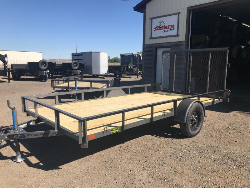 2021 S&S Manufacturing 82 X14 RAIL SIDE Utility Trailer