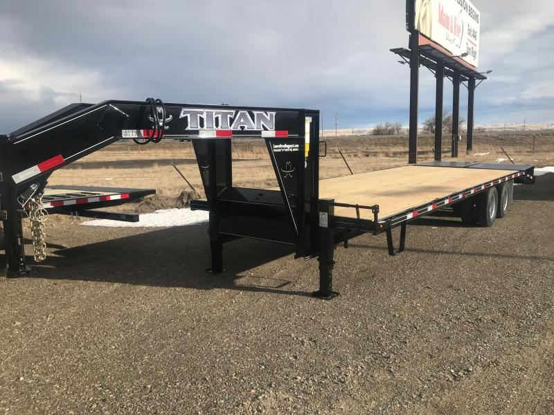 2021 Titan Trailers 101X30' WIDEGLIDE DUALLY Flatbed Trailer