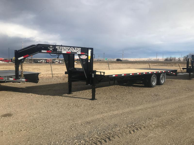 2021 Titan Trailers 101X26' WIDEGLIDE DUALLY Flatbed Trailer