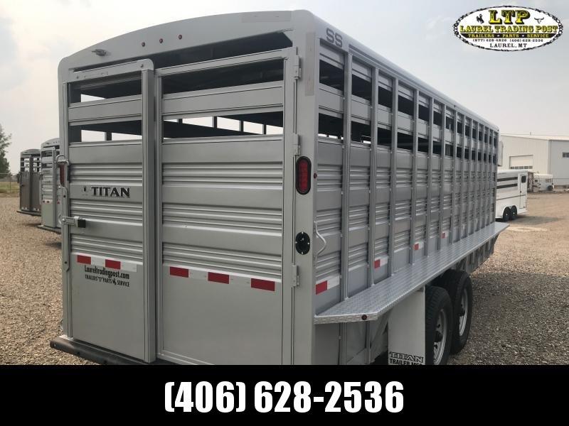 2021 Titan Trailers 20' GN Livestock Trailer