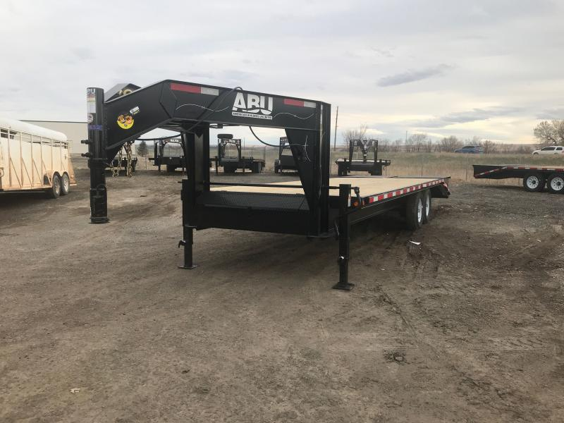 2021 ABU 25' GN Flatbed Trailer
