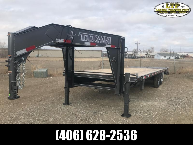 2021 Titan Trailers 26' WIDEGLIDE FB Flatbed Trailer