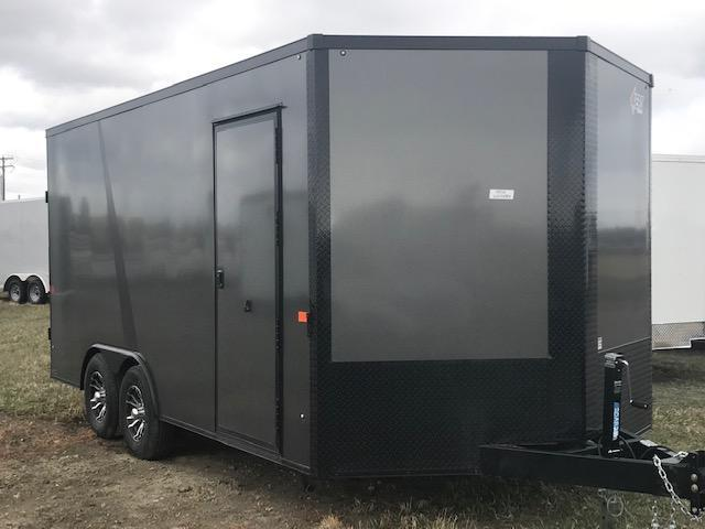 2020 AERO TRAILERS 8.5X16 ENCLOSED CHARCOAL BLACKOUT
