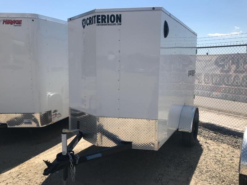 2020 Criterion 5 X 8 DOUBLE REAR DOOR Enclosed Cargo Trailer
