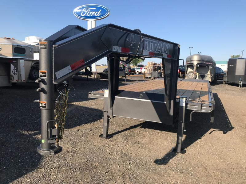 2021 Titan Trailers 26' GN DUALLY Flatbed Trailer