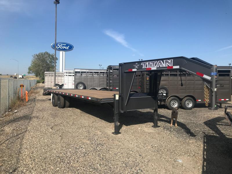 2021 Titan Trailers 30' GN DUALLY Flatbed Trailer