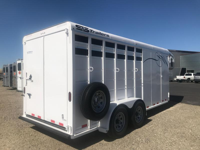 2021 S&S Manufacturing 3H GN HORSE TRAILER Horse Trailer