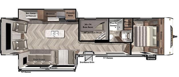 2021 Forest River Inc. WILDWOOD 34MBS