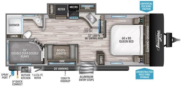 2021 Grand Design RV IMAGINE XLS 23BHE