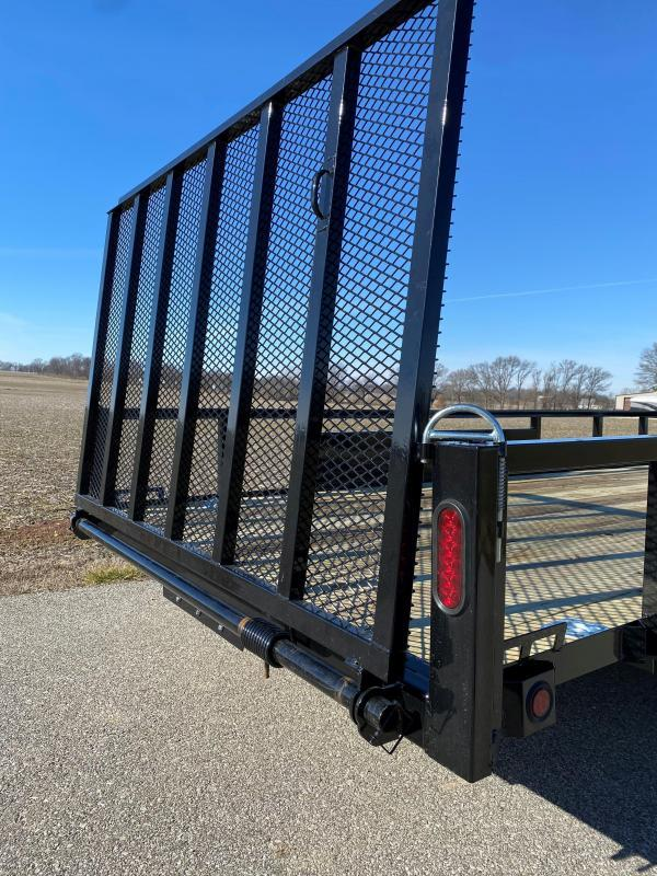 """2022 Quality Steel and Aluminum 82""""X16' 7K Steel Utility Trailer"""
