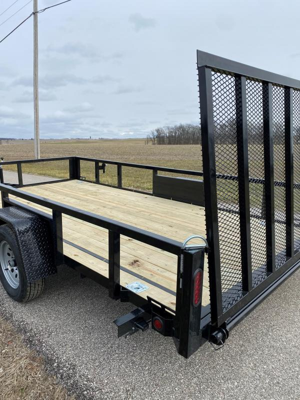 """2022 Quality Steel and Aluminum 82""""X14' 3.5K Steel Utility Trailer"""