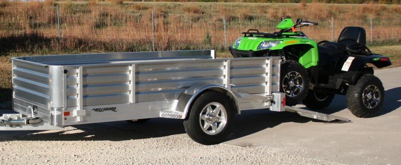 """2020 Hillsboro Industries 78""""x12' Aluminum Utility Trailer"""
