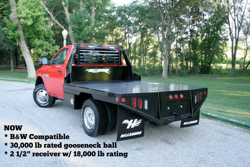 "2021 Hillsboro Industries 80""x84"" Ram Single Wheel Short Bed GI Series Truck Bed"
