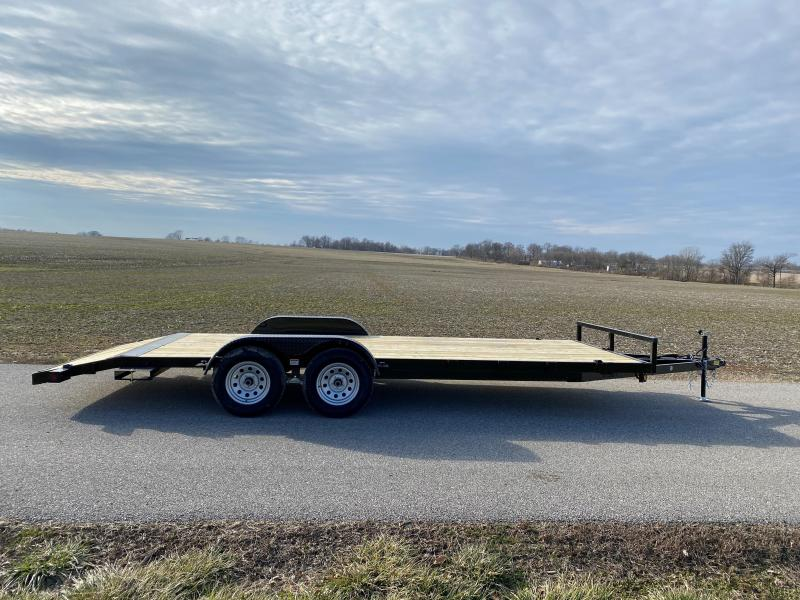 "2021 Quality Steel and Aluminum 83""x16'+2' 7K Steel Equipment Trailer"