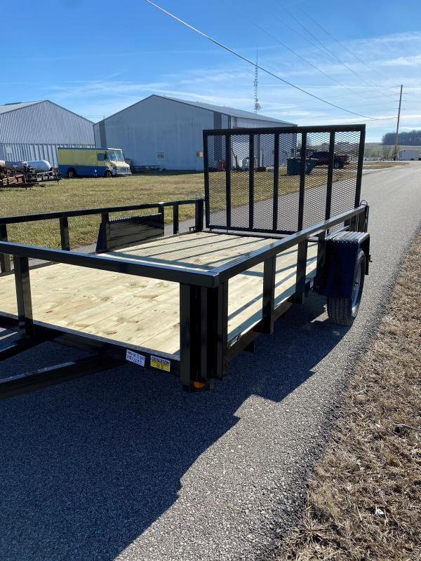 """2022 Quality Steel and Aluminum 82""""X10' 3.5K Steel Utility Trailer"""