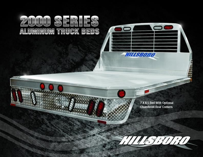 "2021 Hillsboro Industries 7'x8'6"" 2000 Series Single Wheel Long Bed Truck Bed"