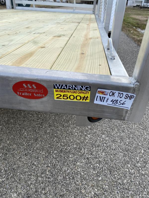 "2021 Quality Steel and Aluminum 80""x12' Deluxe Aluminum Utility Trailer"