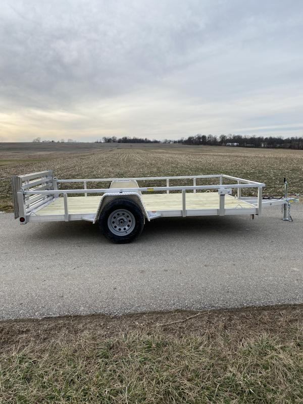 "2021 Quality Steel and Aluminum 80""x12' Deluxe Aluminum Utility Trailer"