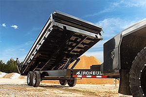 "2020 Iron Bull 96""x16' Deckover Dump Trailer"