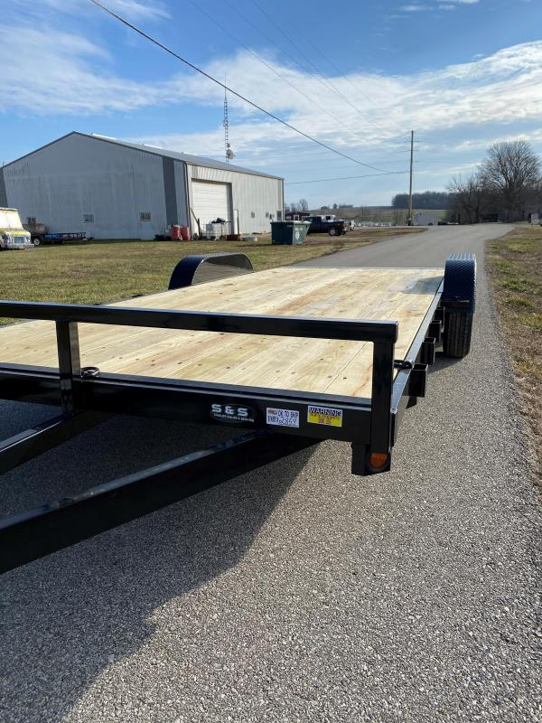 "2021 Quality Steel and Aluminum 83""x18'+2' 7K Steel Equipment Trailer"