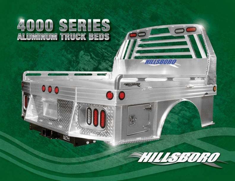 "2020 Hillsboro Industries 96""x102"" Aluminum 4000 Series Ram Truck Bed"