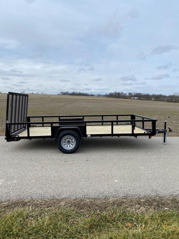 "2021 Quality Steel and Aluminum 82""X14' 3.5K Steel Utility Trailer"