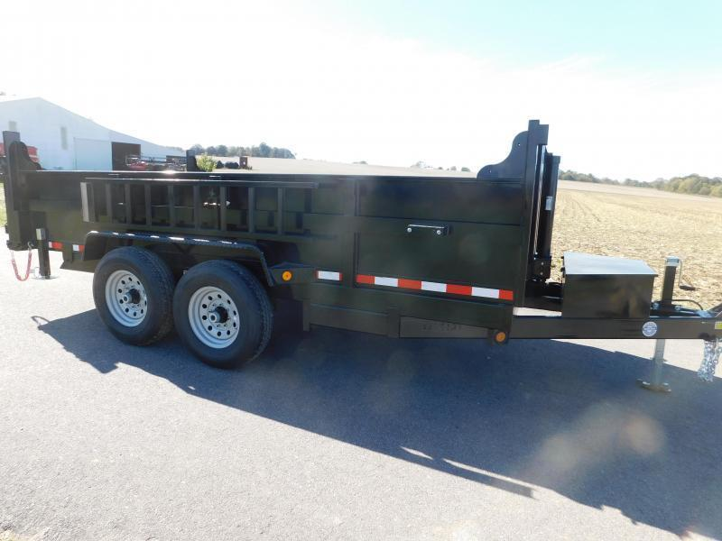 "2021 Quality Steel and Aluminum 83""x12' 12K Dump Trailer"