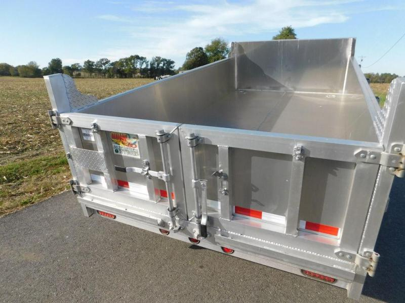 2016 Quality Steel and Aluminum 6' x 12' Low Pro Hybrid Dump Trailer