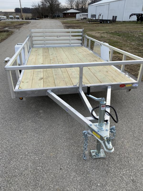"2021 Quality Steel and Aluminum 80""x10' Deluxe Aluminum Utility Trailer"