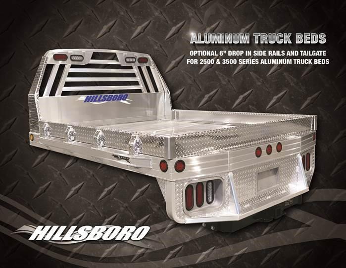 "2019 Hillsboro 2500 Series Aluminum Truck Bed 8' x 7'2"""