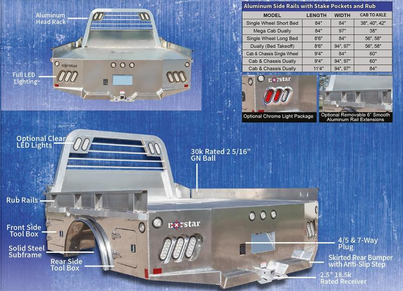 """2020 Norstar 97""""x102"""" AL AT Series Ford/Chevy Truck Bed"""
