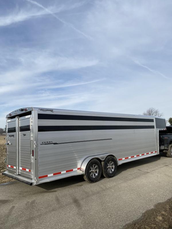"2020 Hillsboro Industries Endura 7x24x6'8"" Livestock Trailer"