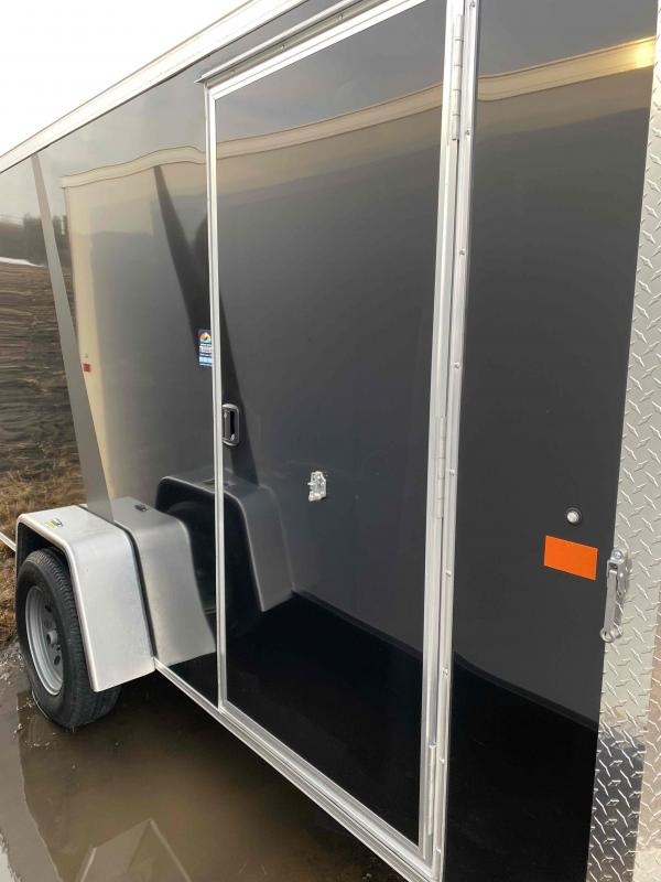 2021 AERO 6X12SA BLK Enclosed Cargo Trailer