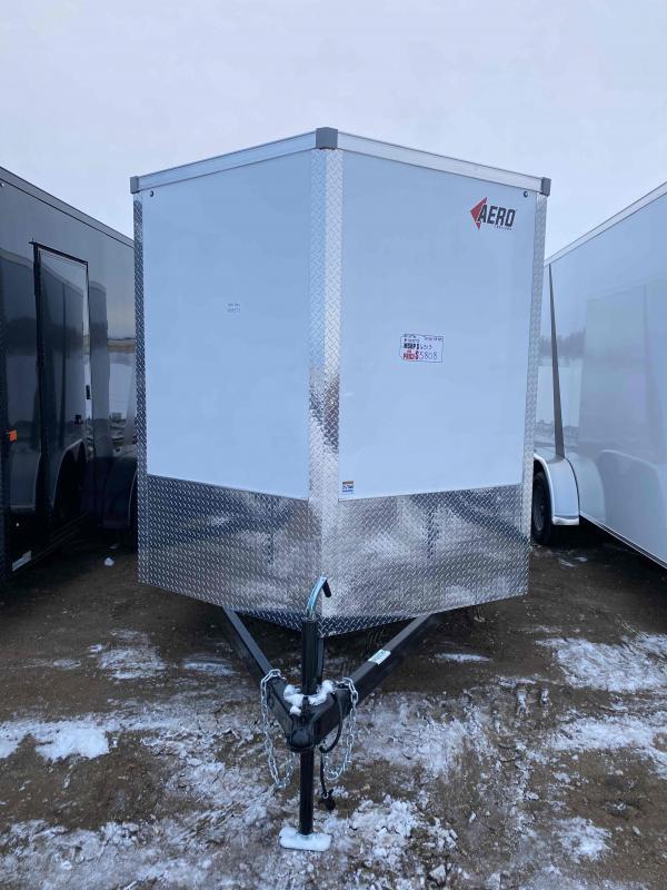 2021 AERO 7X16TA35 WHITE Enclosed Cargo Trailer