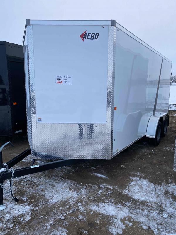 2021 AERO 7X16TA35 WHITE Enclosed Cargo Trailer