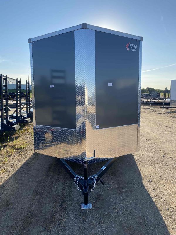 2022 AERO 7.5X16TA35 UTV CHARCOAL Enclosed Cargo Trailer
