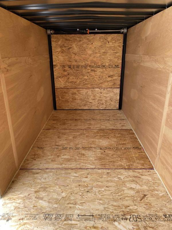 2022 AERO 6X12SA BLK Enclosed Cargo Trailer