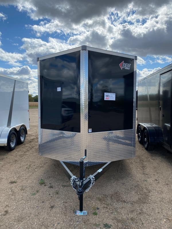 2021 AERO 7X14TA35 BLACK Enclosed Cargo Trailer