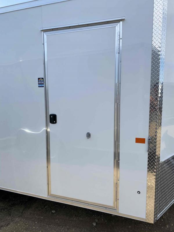 2021 AERO 8.5X16TA52 WHITE Enclosed Cargo Trailer