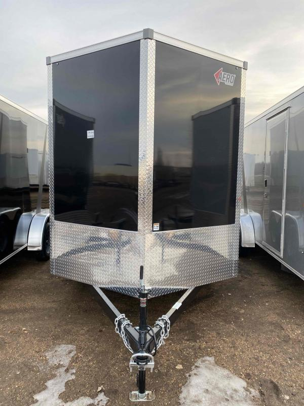 2021 AERO 7X14TA35 UTV BLK Enclosed Cargo Trailer