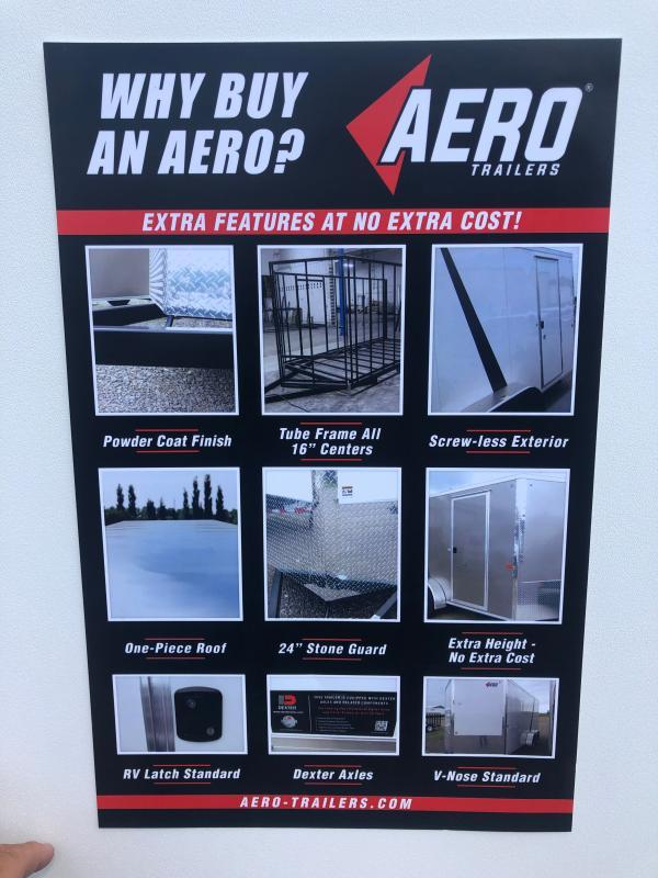 2021 AERO 7X14TA35 UTV SILVER Enclosed Cargo Trailer
