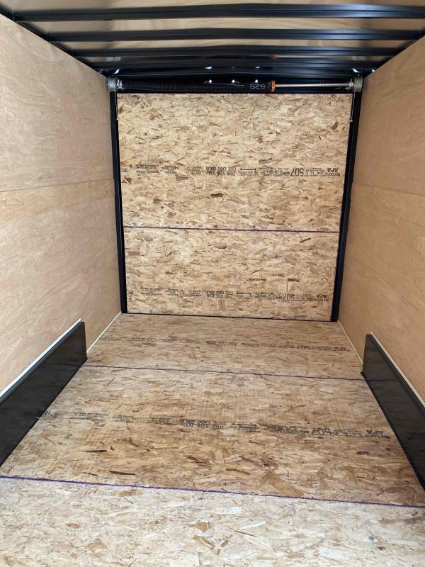 2021 AERO 7.5X16TA35 UTV BLK Enclosed Cargo Trailer