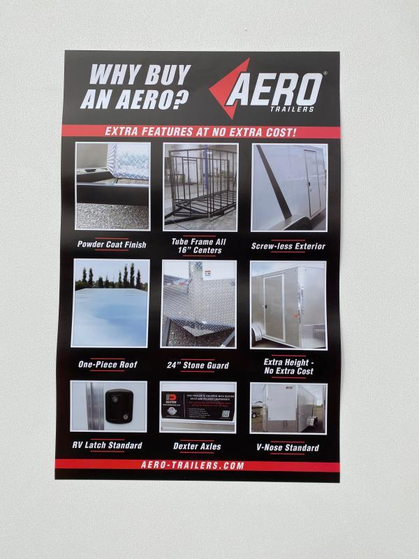 2021 AERO 7X16 TA35 BLK Enclosed Cargo Trailer
