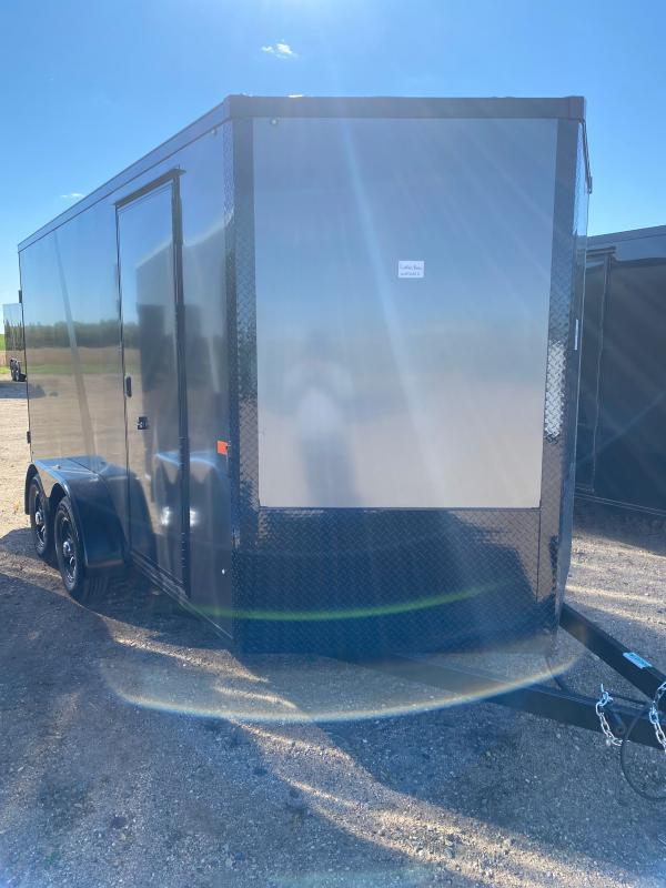 2021 AERO 7X14TA35 CHARCOAL BLKOUT Enclosed Cargo Trailer
