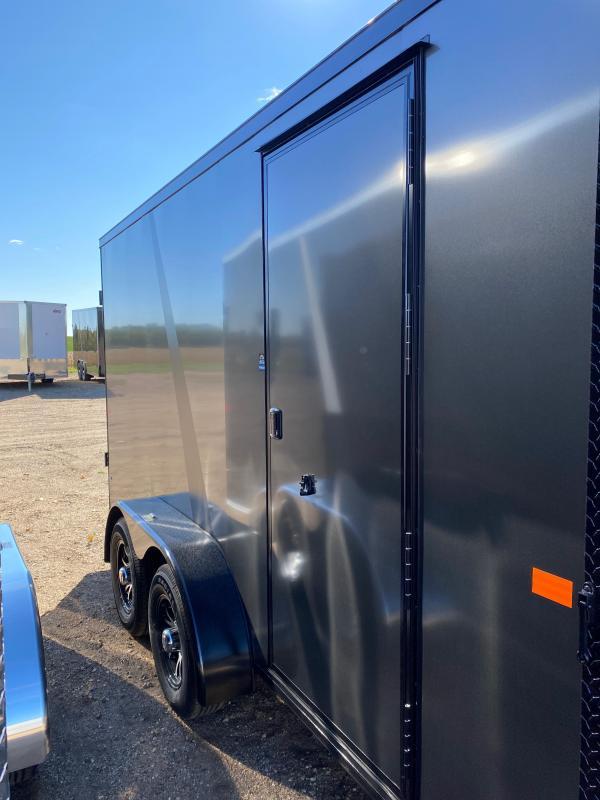 2021 AERO 7X14TA35 CHARCOAL BLKOUT Enclosed Cargo Trailer