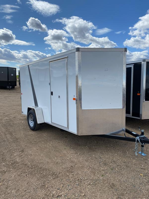2021 AERO 6X12SA WHT Enclosed Cargo Trailer
