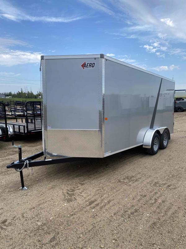 2022 AERO 7X16 TA35 SILVER Enclosed Cargo Trailer