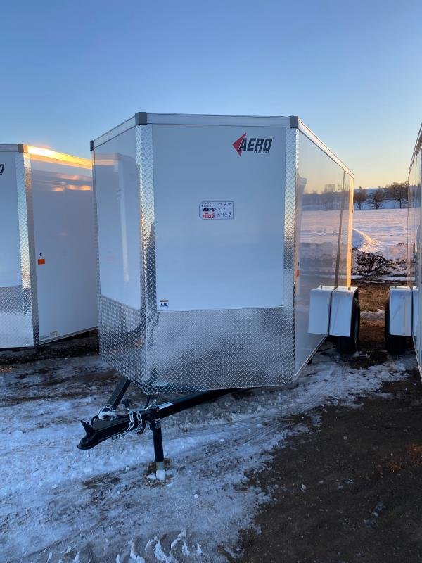 2021 AERO 6X12SA WHITE Enclosed Cargo Trailer