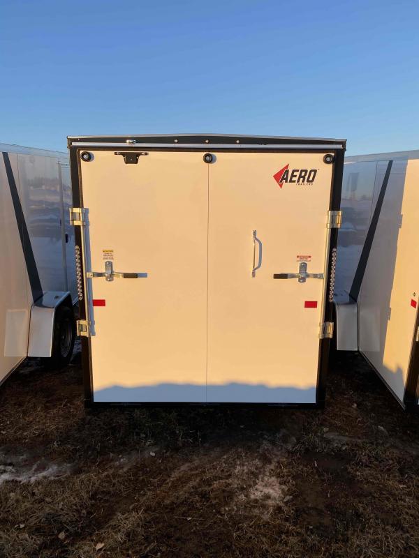 2021 AERO 6X12SA WHITE Enclosed Cargo Trailer