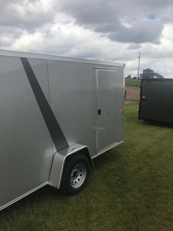 2021 6X12SA SILVER Enclosed Cargo Trailer